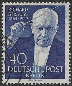 GERMANY / BERLIN - 1954 Composer Richard Strauss Issue Sc 9N111 VFU