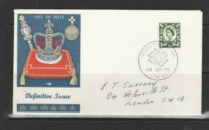 GB FDC 1970 Scottish regional, 9d No Wmk, National Postal Museum cancel, Hand ad