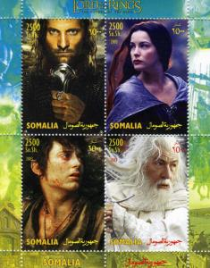 Somalia 2003 LORD OF THE RINGS Sheet (4) Perforated Mint (NH)