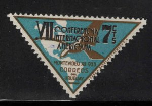 Uruguay Scott 448 MH* 1933 Map stamp