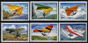 Rumania 1982 Hang Gliders perf set of 6 unmounted mint, S...