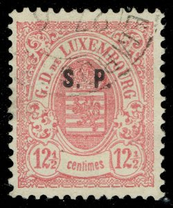 [sto733] LUXEMBOURG 1881 Scott#O48 used cv:225€/$260 Signed Brun Paris