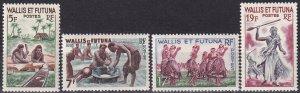 Wallis & Futuna Islands #154-7  MNH CV $9.75  (Z9028)