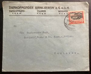 1938 Swakopmund South West Africa Commercial Cover to Cuxhaven Germany