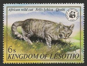 Lesotho #351 (SG #468) VF MNH - 1982 6s African Wild Cat