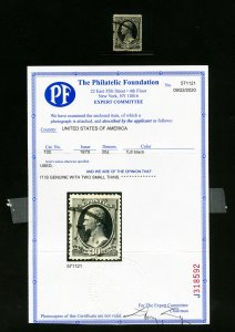 US Stamps # 190 Fresh color w/ slight thin neat cancel & PFC