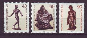 J24363 JLstamps 1981 germany berlin set mnh #9n468-70 sculptures