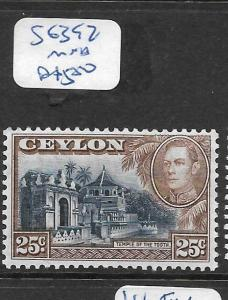 CEYLON (PP2002B) KGVI 25C  SG 392  MNH