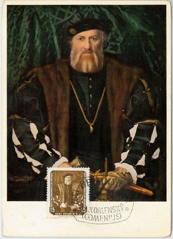 57239  -  GERMANY DDR  - POSTAL HISTORY: MAXIMUM CARD  - John Amos Comenius