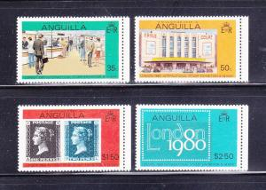Anguilla 371-374 Set MNH Stamp Exhibition