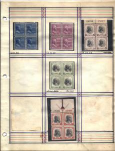 803-834 Mint,OG,NH & Used... Plate Blocks/Blocks of 4... SCV $896.90