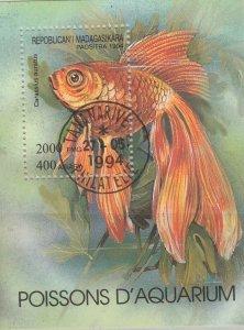 Malagasy Republic 1994 Aquarium Fish Sheet Used 11885