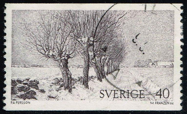Sweden #956 Willows; Used (0.25)