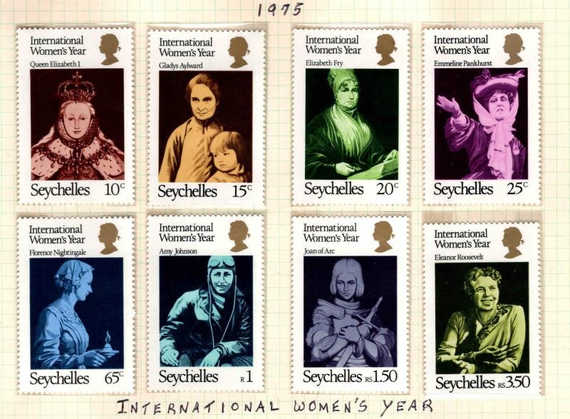 Seychelles Scott 331-338 MNH**Womens Year set 1975