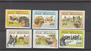 San Marino  Scott#  1293-8  MNH  (1994 International Dog Show)