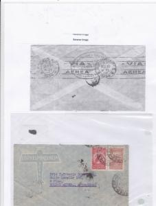 Brazil 1934 airmail stamps cover Ref 9609