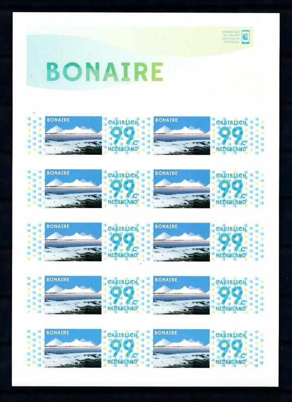 [CA048BV] Caribbean Netherlands 2014 Personal stamp Bonaire Self Adh. S/S MNH