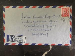 1967 North Point Hong Kong Registered Cover To Inland Revenue Dept