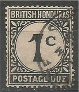 BRITISH HONDURAS, 1923, used 1c, Churchill Memorial. Scott J1