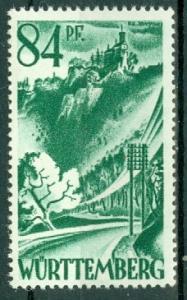 Germany - French Occupation - Wurttemberg - Scott 8N12 (SP)