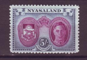 J20907 Jlstamps 1945 nyasaland proct mh #79 perf 14 king
