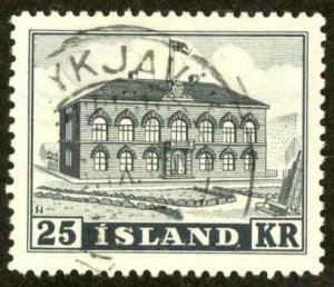 Iceland Sc# 273 Used 1952 25k Parliament Building