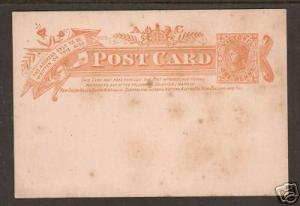Victoria H&G 23 mint Post Card, 1p orange indicium