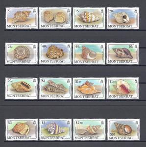 Montserrat 681-696, MNH. Sea Shells 1988: Golden tulip, Knobby scallop,x29320