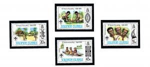 Solomon Is 377-80 MNH 1978 Scouting in Solomon Islands
