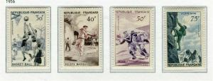 FRANCE; 1956 early Sports issue fine Mint hinged SET