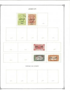 Jordan 1920-1933 M & U Hinged on Scott International Blank Pages