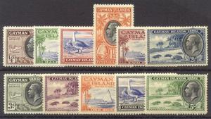 CAYMAN IS. #85-95 Mint - 1935 K G V Pictorials
