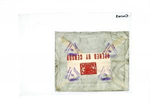 BAHRAIN INDIA Rawalpindi Airmail CENSOR IMPERIAL AIRWAYS WW2 CW103