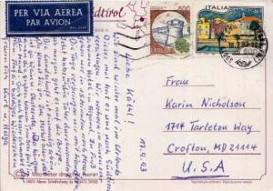 Italy, Airmail