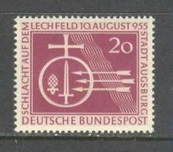GERMANY BUND Sc# 732 MNH FVF Orb & Symbols of Battle