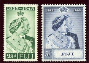 Fiji 1948 KGVI Silver Wedding set complete superb MNH. SG 270-271. Sc 139-140.