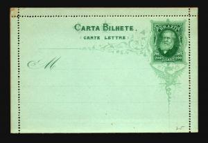 Brazil 200R Late 1800s Letter Card Unused / Sealed - Z15315