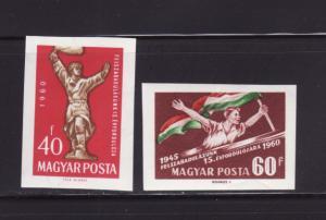 Hungary 1324-1325 Imperf Set MNH Hungary's Liberation (B)