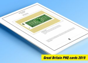 COLOR PRINTED GREAT BRITAIN 2019 PHQ CARDS STAMP ALBUM PAGES (151 illust. pages)