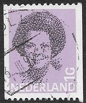 Netherlands - # 634 - Queen Beatrice - 1Gld. - coilstamp - used (P10)