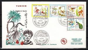 Tunisia, Scott cat. 750-753. Flora and Fauna issue. First Day Cover.