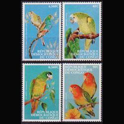 ZAIRE 2000 - Scott# 1528-31 Parrots Set of 4 NH