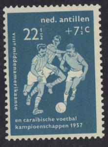 Netherlands Antilles  #B34  MH  1957  football  22 1/2 c