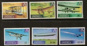 ANGUILLA SG365/70 1979 POWERED FLIGHT  MNH