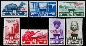 Eritrea Scott 168-174 (1934) Mint LH VF Complete Set, CV $123.00 C