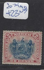 NORTH BORNEO  (PP2607B)  24C LION, CREST  SG 79  MOG