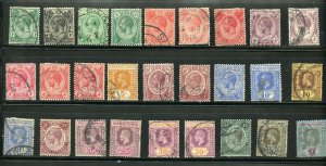 STRAITS SETTLEMENTS SINGAPORE SC# 149-165 FINELY USED WITH EXTRAS AS SHOWN
