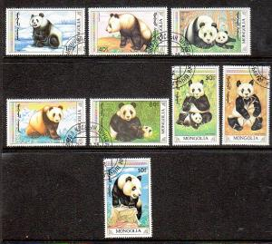 Mongolia Pandas 1879-1886 CTO  VF NH
