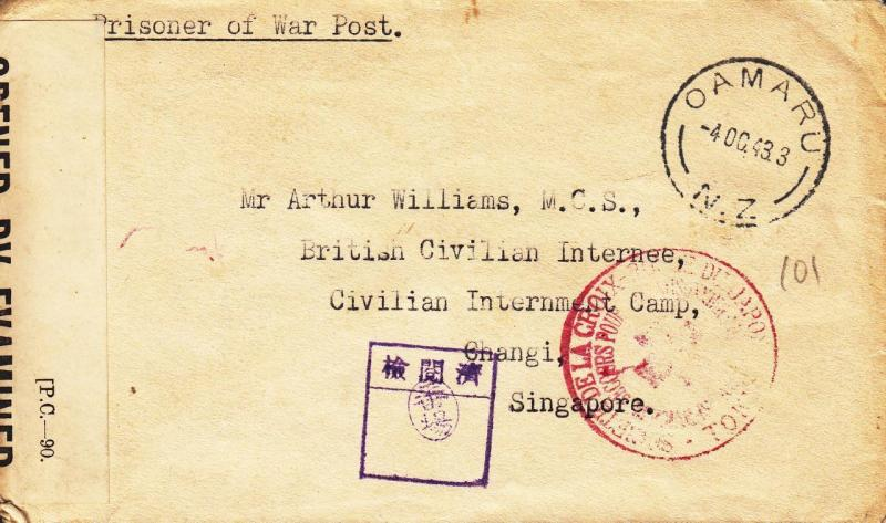 New Zealand to British Civilian, 1943 See Remark (LF3)
