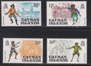 Cayman Islands # 362-365, Pirates, NH, 1/2 Cat,